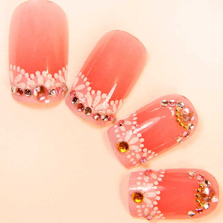 Water Melon Red Fake Nails Tips For Sale,acrylic False