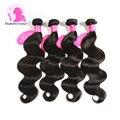 8A Fashow Hair Indian Virgin Hair Body Wave 4 Bundles Indian Body Wave Real Remy Human Hair Weave 8- 30 inch Indian Hair Bundles