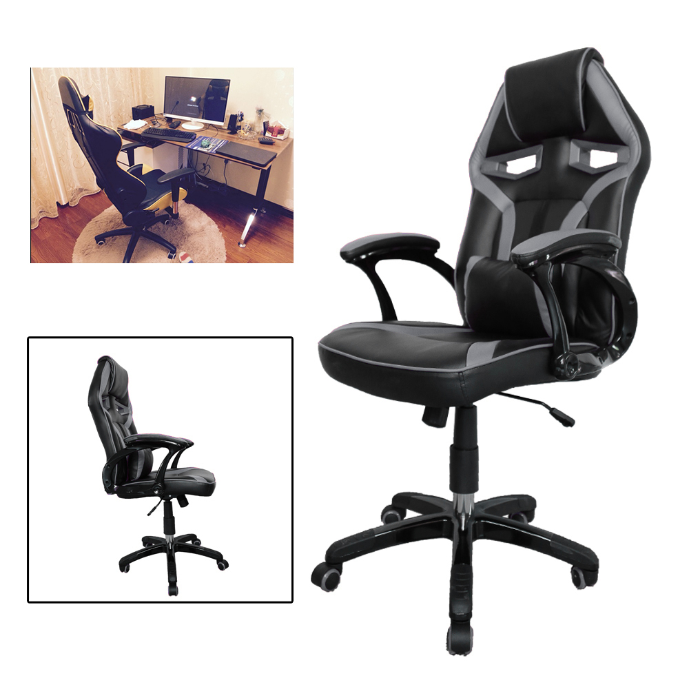 Modern Black Grey 120 129cm Height Racing Computer Game Chair Office Executive Chairs Ergonomic High Back Seat height Adjustable