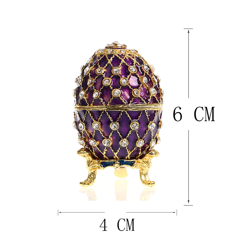 Purple easter metal crafts gifts embroidery russian egg jewelry purple easter metal crafts gifts embroidery russian egg jewelry trinket box figurine for christmas gifts jewelry display case in figurines miniatures from negle Gallery