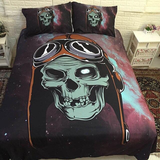3D Sugar Skull Bed Linen Bedding Sets Comforter Bed Cover Quilt Duvet Cover Set Queen King Size Bedding Double Single Sheets