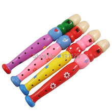 3 PCS /LOT Children flute wooden toys baby music instrument toys birthday gifts for kids and children