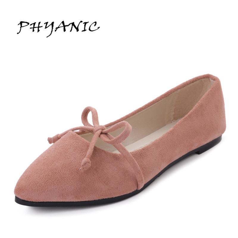 PHYANIC Fashion Flats Woman 2017 New Arrival Pointed Toe Women Shoes High Quality Suede Comfortable Flats PHY6903 2017 new fashion flats woman spring summer women shoes top quality pointed toe women flats suede comfort flat plus size 40