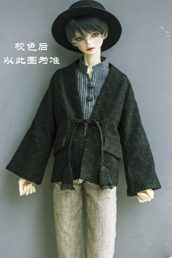 BJDdoll vestido é adequado para 1/3 e 1/4 DD MSD tio acessórios de estilo Japonês e vento impressão rendas cardigan