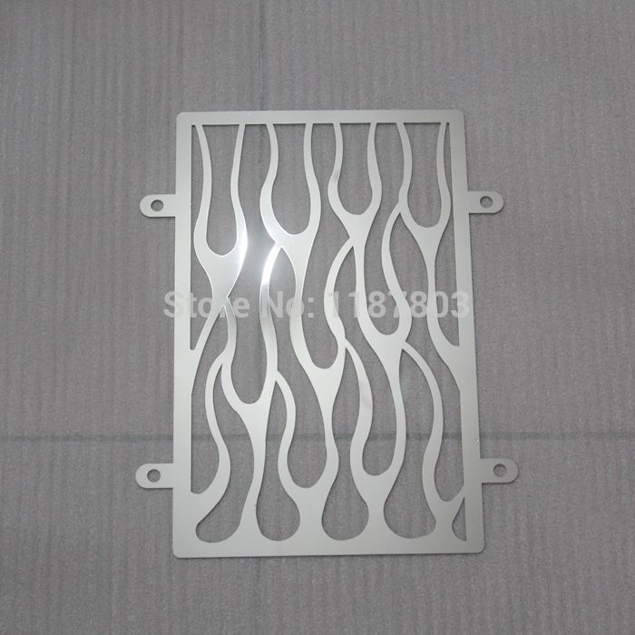 Free Shipping Chrome Motorcycle Fire Radiator Grille Cover Stainless For Kawasaki vulcan VN 900 vn900 custom CLASSIC accessories 15cm saddle bag support bar bracket for kawasaki vulcan vn 800 800a classic custom