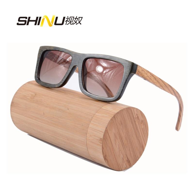 Wood Bamboo Sunglasses Vinatage Men Polarized Wooden Glasses Fashion Brand Designer Sun Oculos De Sol Feminino
