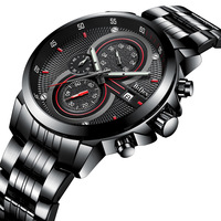 business mens wristwatches stainless steel quartz man watches Multifunction waterproof calendar Biden brand Citizen movement