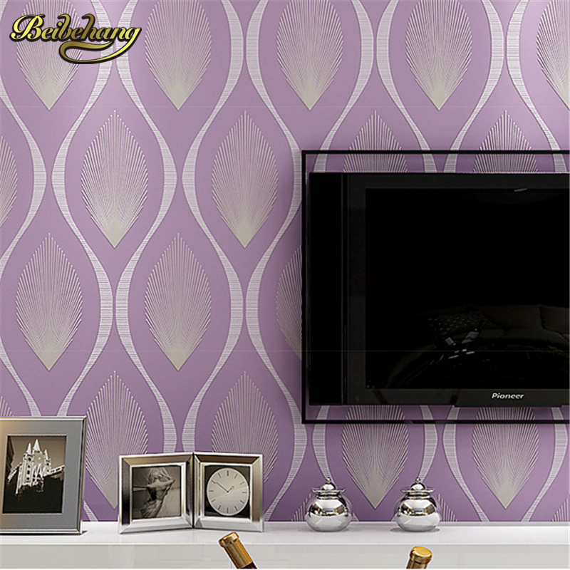 beibehang Simple 3D stereoscopic environmental non-woven wallpaper bedroom living room TV background wall personalized lines beibehang modern simple lattice flocking non woven pearl wallpapers living room bedroom background wall aisle wallpaper