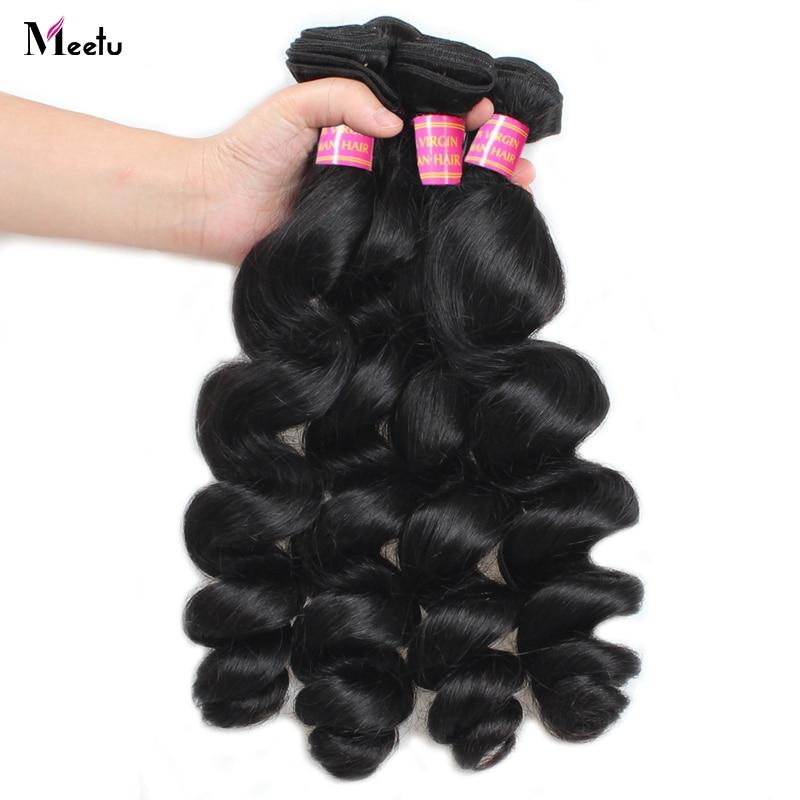 Meetu Brazilský Loose Wave Hair Svazky 100% lidské vlasy 1 ks - Krása a zdraví - Fotografie 3