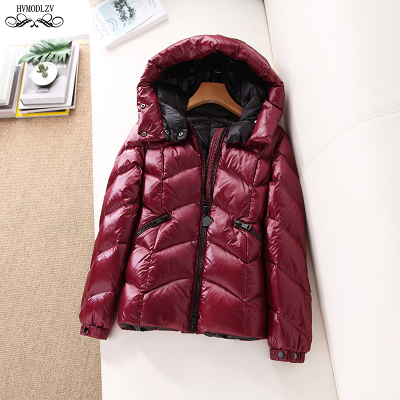 cc38760da Women's Winter Solid Color Down Jacket For Girls 2019 New Hooded Light And  Thin Fashion Coat Female Basic Puffer Jacket HJ170