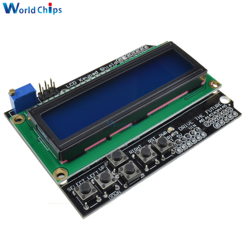 1602 LCD Keypad Shield LCD 1602 Module Display For Arduino ATMEGA328 ATMEGA2560 Raspberry Pi UNO Blue Screen