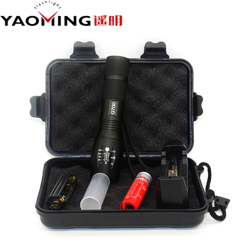 Bright LED Flashlights CREE XM-L T6 Zoomable Tactical Flashlight G700 Linternas 1*18650/3*AAA Battery Torch Lamp For Hunting e007 zoomable 18650 led flashlights xm l t6 18650 aaa flashlight torch 1 18650 battery ac