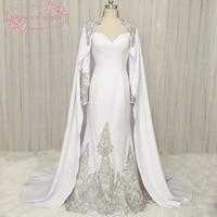 SuperKimJo Dubai Arabski Kaftan Długi Rękaw Koronki Aplikacja Paciorkami Suknie Wieczorowe Luksusowe Eleganckie Formalne Suknie Vestido longo