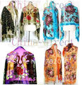 Super high quality Beaded Silk Velvet Burn Out Duster Opera Coat Shawl Scarf Wrap Ponchos 6pcs/lot #009
