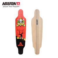 KOSTON Pro Longboard Deck With 8ply Canadian Maple Hot Air Pressed Quality Long Skateboard Decks For