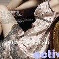Женщины сексуальные кружева Imtated шелковый брейс ночная рубашка платье