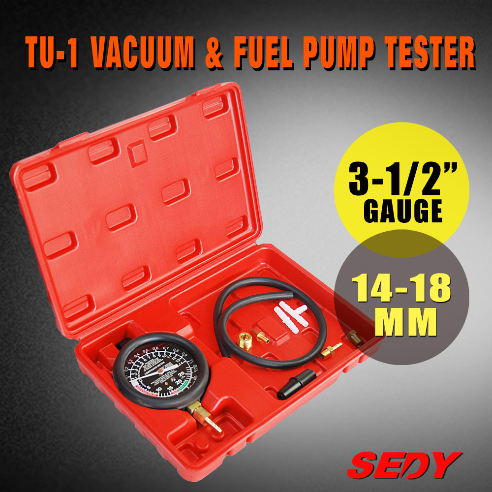 Car Automotive Caburetor Fuel Pump Vacuum Valve Diagnose Tester Gauge Tool Set 16045243