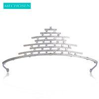 MECHOSEN Luxury Multilayer Cubic Zirconia Crown Bridal Hair Accessories Full Crystal Copper Tiaras and Crowns Tiara de noiva