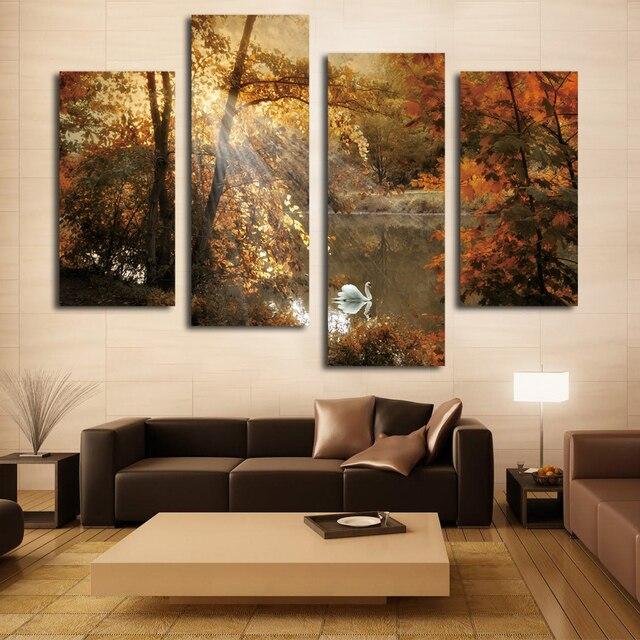 Small High Impact Decor Ideas: 4 개 아름다운 풍경 고화질 캔버스 인쇄 거실 침실 홈 장식-에서4 개 아름다운 풍경 고화질 캔버스 인쇄