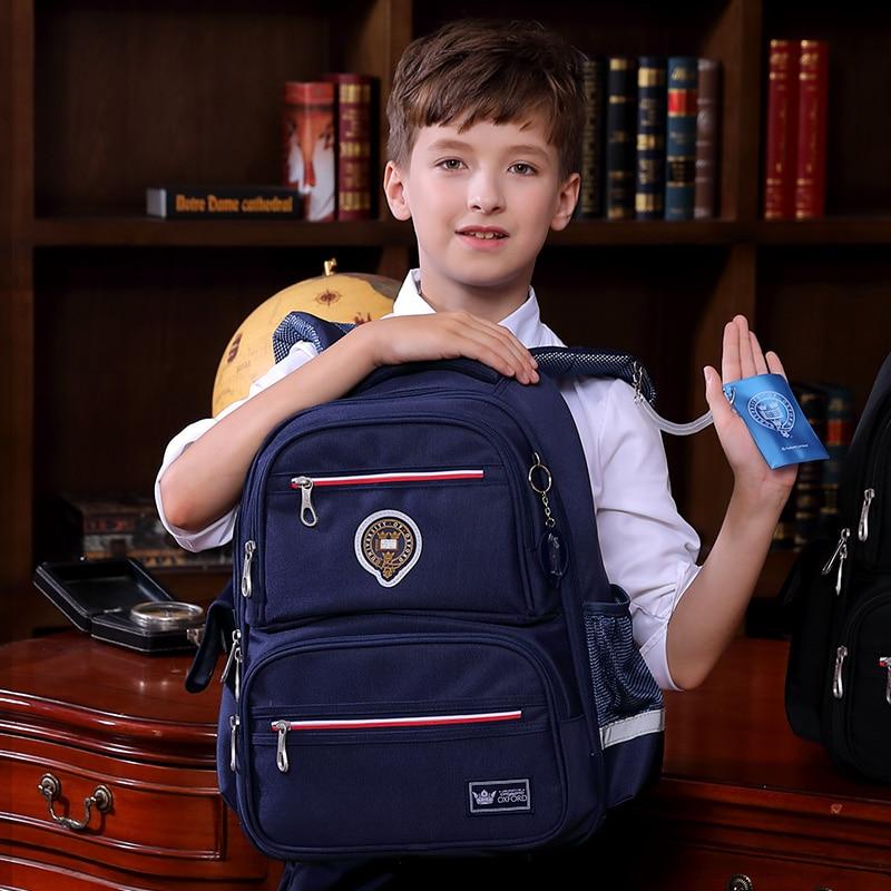 University of oxford children kids orthopedic books backpack elementary school bag portfolio rucksack for boys girls