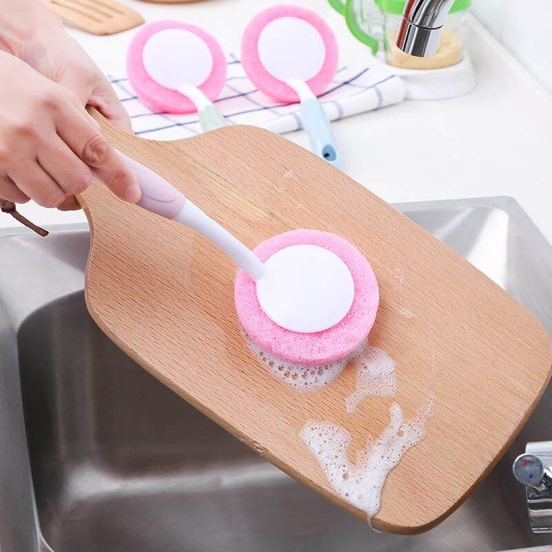 Placas de cocina Tazón Cepillo de Limpieza Con Mango Largo Pan Cepillo de Limpie