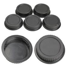 Maytic 5pcs New Rear Lens Cover plastic Lens Cap Dust  For Canon Camera EF ES-S EOS Series Lens Black