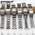 Promoção 22mm New Top Qualidade Pulseira de Aço inoxidável Dobrável Cinta Fivela de Fecho Para EF-550 BEM501 EF527 pulseira À Prova D' Água