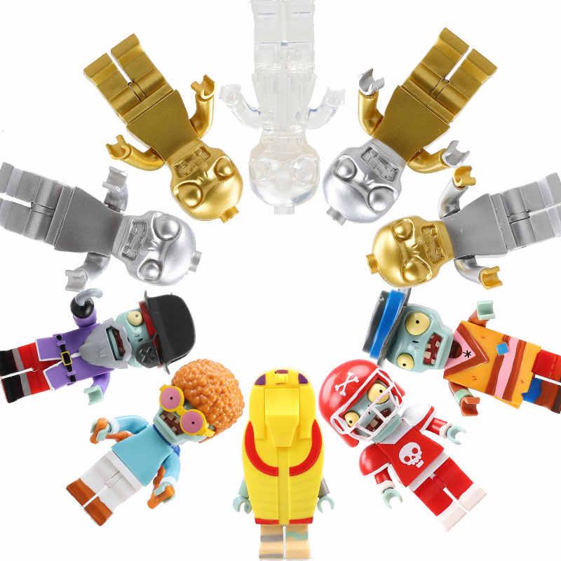 Rośliny kontra zombie figurki klocki PVZ figurki kompatybilne z LegoED klocki do gry kolekcja dla dzieci zabawki