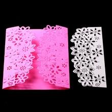 1pc Hollow Out Flower Frame Lace Metal stenciles Stencils For DIY Scrapbooking/photo Album Decorative