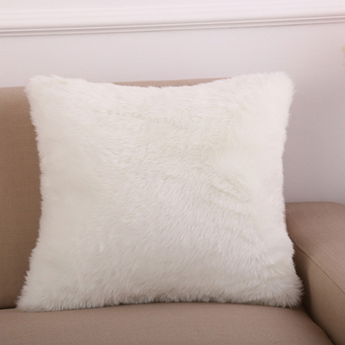 material fur size approx 45 x 45cm coloras the picture shown package content 1 x pillow coverfiller not included - Mongolian Faux Fur Pillow