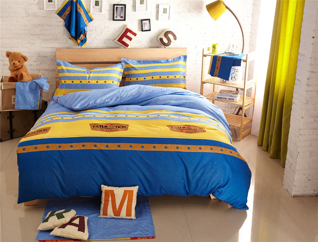 Delightful Striped Comforter Sets Modern Bed Linen Teen Bedding Sets Cheap Bed Sheets  Ropa De Cama Comforters And Quilts Nautical Bedding
