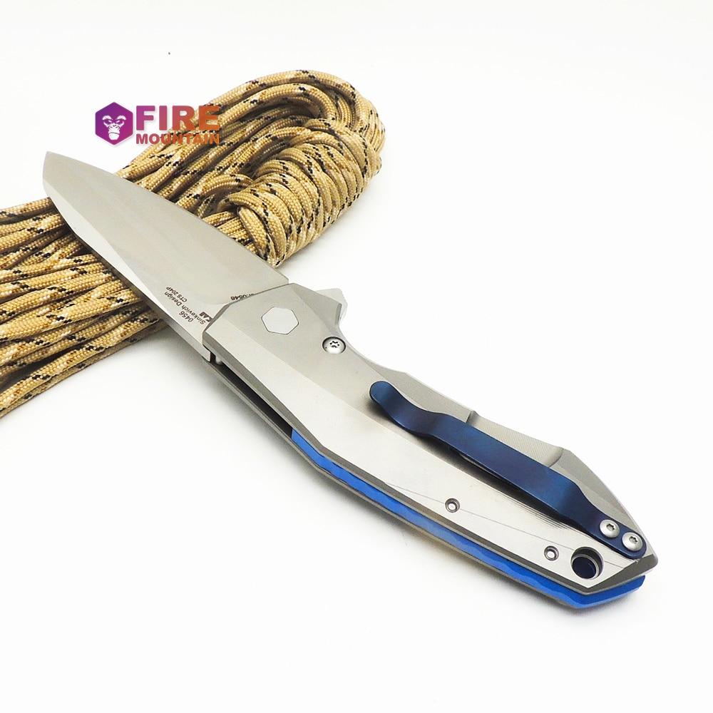 BMT 0456 Coltelli pieghevoli CTS 204P Lama Manico in titanio - Utensili manuali - Fotografia 5