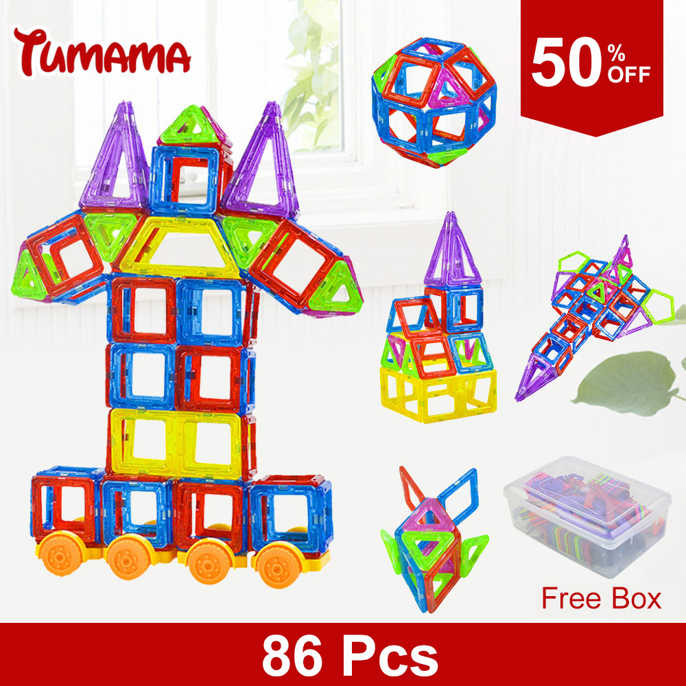 86Pcs Mini 3D DIY Magnetic Blocks Building Model Block Children font b Toys b font Educational
