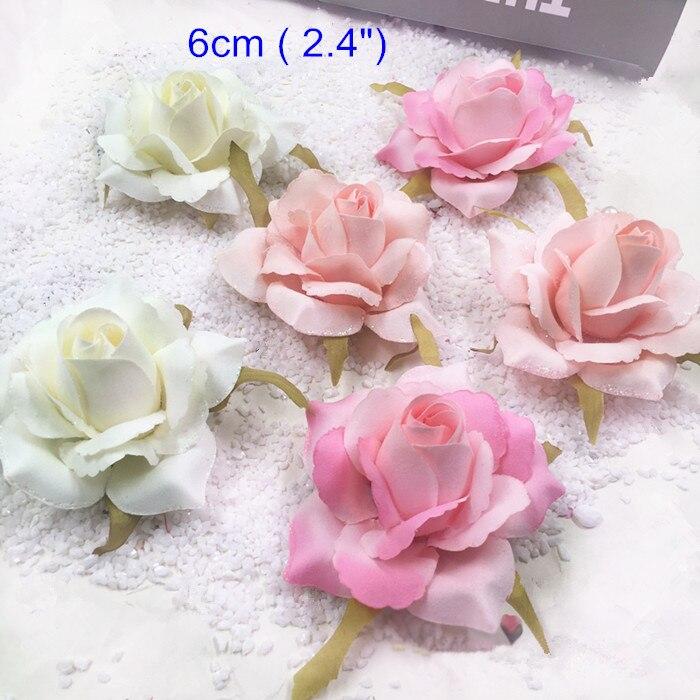 Acheter 30 pcs Conçu Tissu Rose Fleur, 6 cm (2.4
