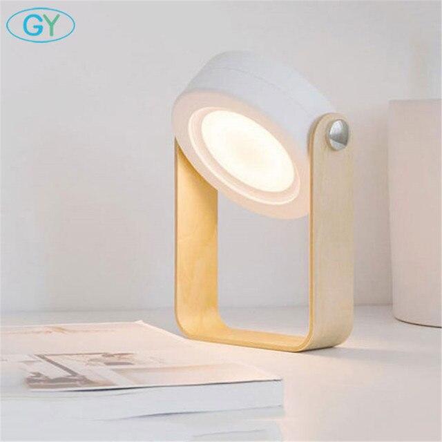 2018 New Portable led book light, Art decor wood USB reading lamp, Lantern night lights, table lamp or hung lighting for camping