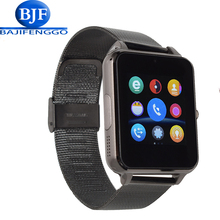 E6 smart watch for android phone sport reloj inteligente Support TF SIM card Steel leather strap