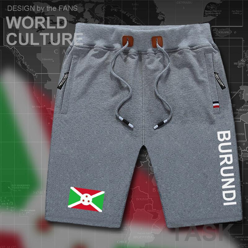 Burundi Burundian Mens Shorts Beach Man Men's Board Shorts Flag Workout Zipper Pocket Sweat Bodybuilding 2017 Cotton Brand BDI