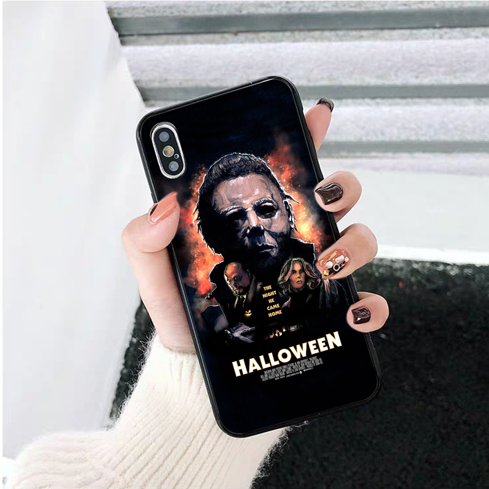 Lavaza The Curse Of Michael Myers Horror Movie Silicone Case for iPhone 5 5S 6 6S Plus 7 8 11 Pro X XS Max XR in Half wrapped Cases from Cellphones Telecommunications