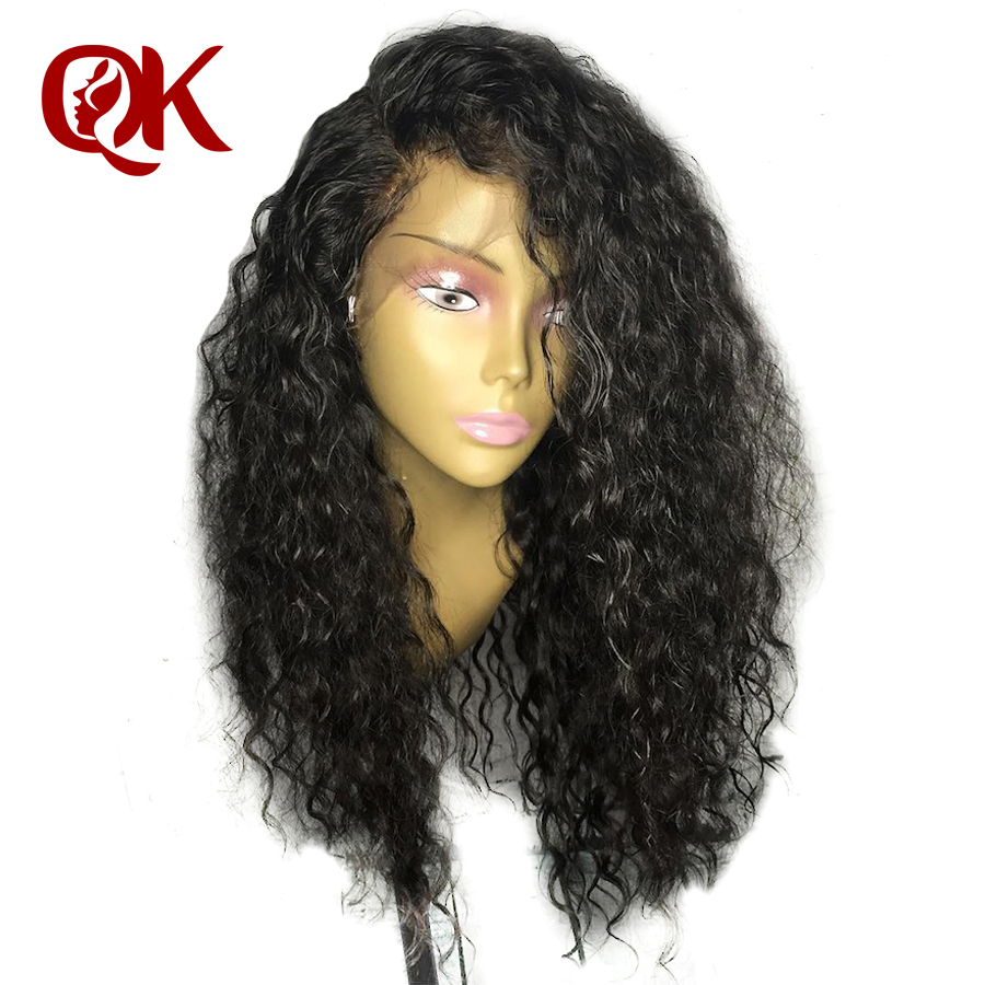 QueenKing Hair Curly Lace Front Human Hair Wigs PrePlucked With Baby Hair Brazilian Remy Hair Lace
