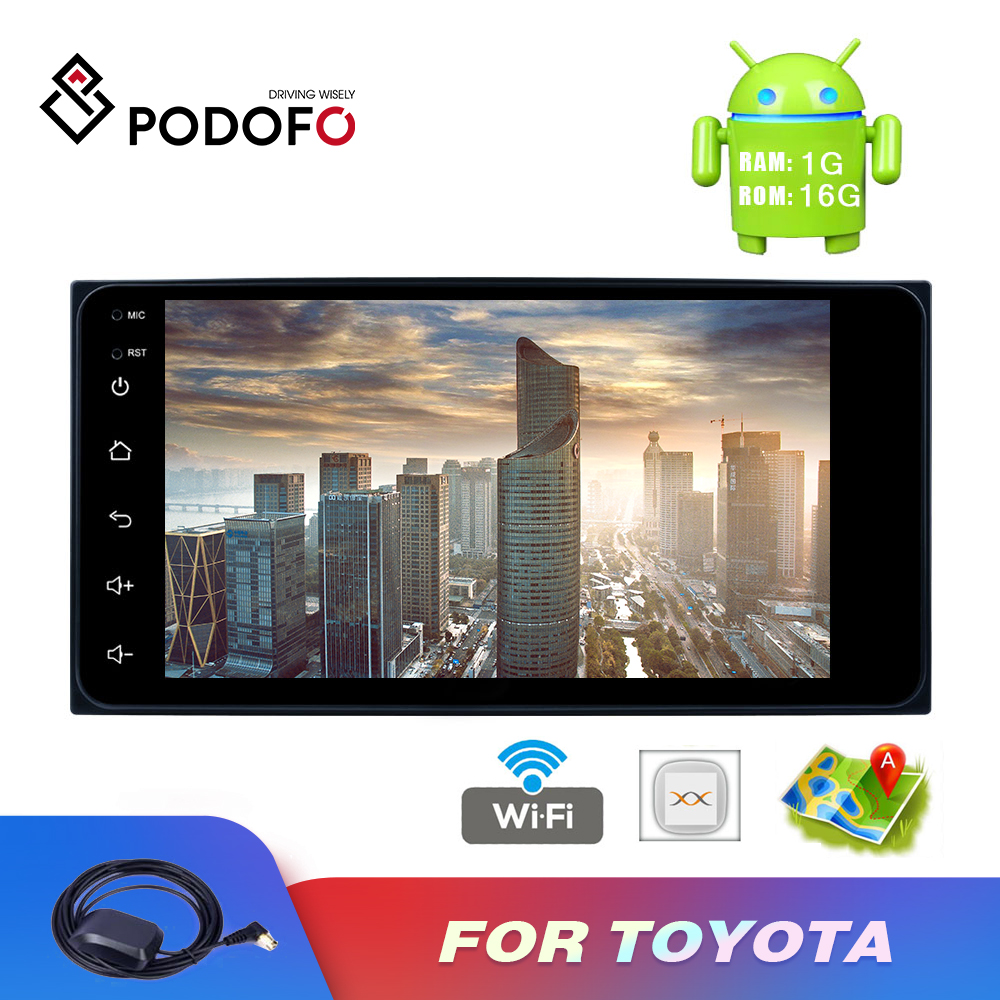 Podofo <font><b>2</b></font> <font><b>din</b></font> Car Radio Android 7