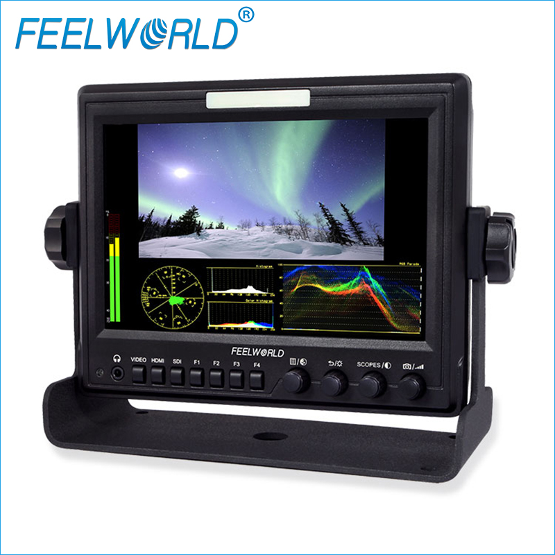 Z7 7 inch Field Monitor With Waveform Scopes and HDMI To SDI output IPS Feelworld Photo Studio Camera External LCD Monitors aputure vs 5 7 inch sdi hdmi camera field monitor with rgb waveform vectorscope histogram zebra false color to better monitor