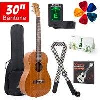 Kmise Baritone Гавайская гитара 30 дюймов из красного дерева Ukelele Uke 4 струны Гавайская гитара