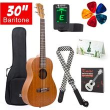 цены Mahogany Baritone Ukulele Hawaii Guitar 30 inch Abalone Soundhole Rosette Matt