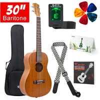 Kmise Baritone Ukulele 30 Inch Mahogany Ukelele Uke 4 String Hawaii Guitar