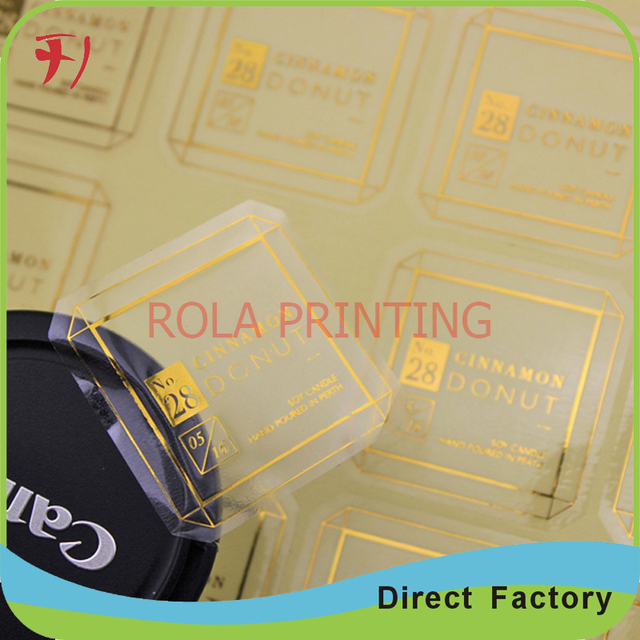 Exquisite logo printed round gold foil stickerhot selling gold silver foil label