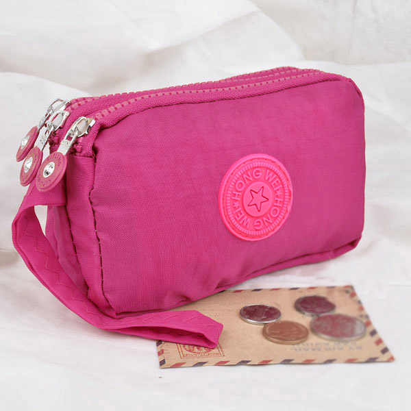3 Zippers Lady Purses Women Wallets Brand Clutch Coin Purse Cards Keys Money Bags Canvas Short Woman Girls Wallet Handbags Burse