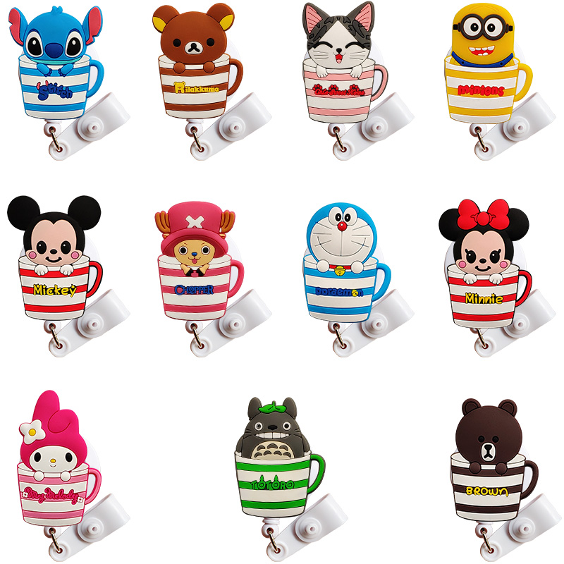 20 Pcs Large Size New Cartoon Nurse Id Card Holder Retractable Id Badge Holder Badge Reel 2019 Badge Clip Retractable For Work