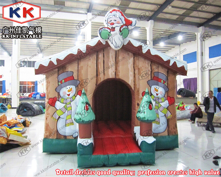 Inflatable Snow Bouncer House Inflatable Christmas Decoration Jumping Bouncer for Sale