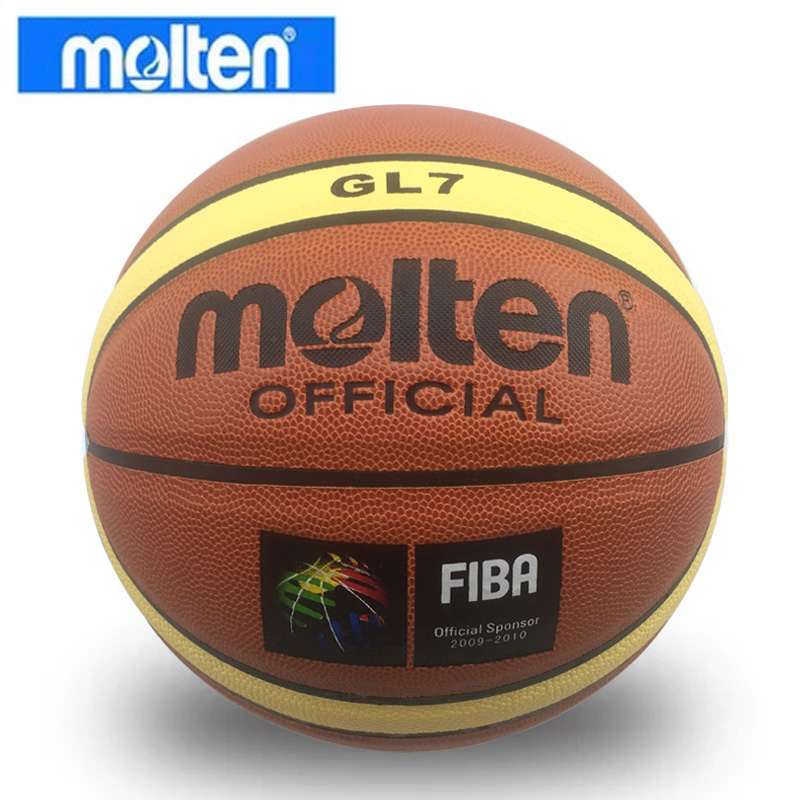 GL7 Basketball Ball Molten + Needle PU Materia Official Size7 Basketball Free With