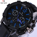 Watches Men 's Fashion Classic Large Dial Design Luxury Brand Fancy Quartz Men Watch Rubber Strap Relogio Masculino Xfcs Reloj